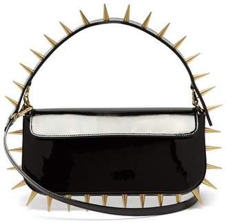Marques Almeida Marques'almeida - Spiked Patent Leather Shoulder Bag - Womens - Black