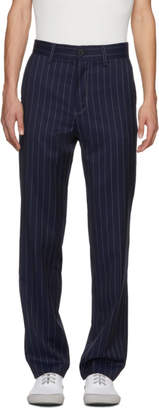J.W.Anderson Navy Pinstripe Trousers