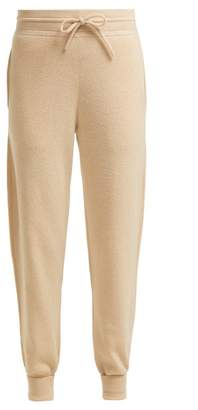 Chloé Iconic Logo Intarsia Cashmere Track Pants - Womens - Beige