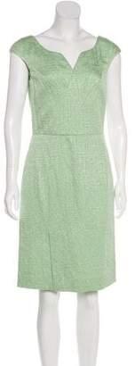 Oscar de la Renta Knee-Length Jacquard Dress w/ Tags