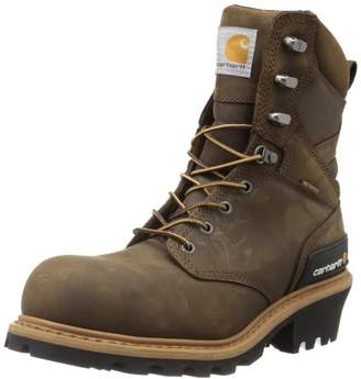 "Carhartt Men's CML8360 8"" Waterproof Composite Toe Leather Logger Boot"