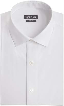 Kenneth Cole Reaction Kenneth Cole Men's Chambray Slim Fit Solid Spread Collar Dress Shirt