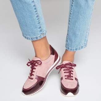 La Redoute Collections Leather Running Trainers