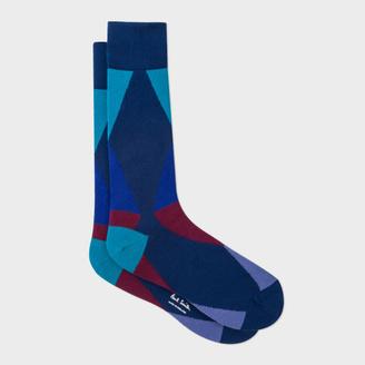 Men's Navy Geometric Triangle Socks $30 thestylecure.com