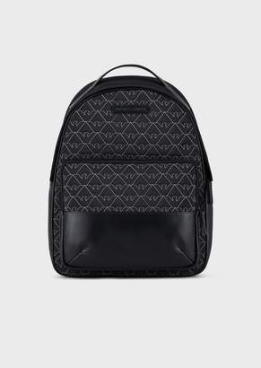 Emporio Armani Nylon Backpack With Quilted Monogram