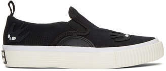McQ Black Swallow Patches Slip-On Sneakers