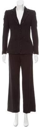 Rena Lange Embellished Wool Pantsuit