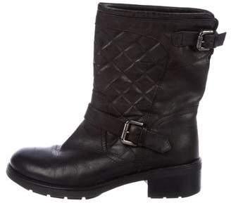 Aquatalia Leather Mid-Calf Boots