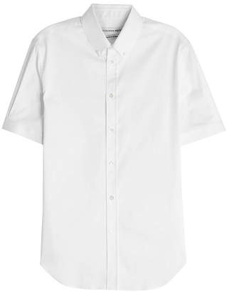 Alexander McQueen Short Sleeved Shirt with Cotton