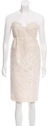 Oscar de la Renta Embellished Strapless Dress w/ Tags