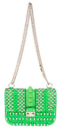 Valentino Embellished Glam Lock Bag