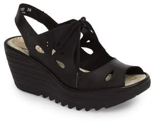 Fly London Yend Platform Wedge Sandal