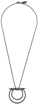 Salvatore Ferragamo double Gancio pendant necklace