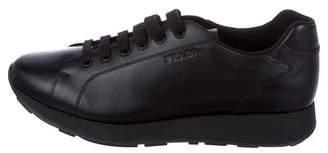 Prada Sport Leather Low-Top Sneakers
