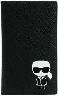Karl Lagerfeld K/Ikonik travel wallet