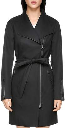 Mackage Estela Leather Trimmed Trench Coat