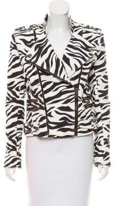 Pierre Balmain Printed Zip-Up Jacket