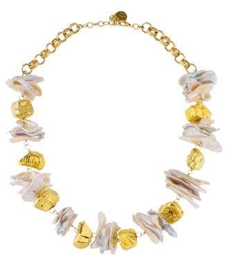 Devon Leigh Pearl Beaded Station Necklace