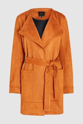 Next Womens Blush Suedette Waterfall Jacket