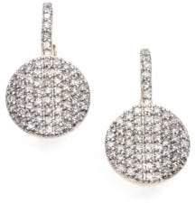 Phillips House Pave Diamond& 14K Yellow Gold Petite Infinity Drop Earrings