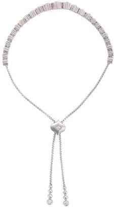 Sara Weinstock Isadora Floret White Gold Graduated White Diamond Bolo Bracelet