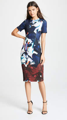 Yigal Azrouel Short Sleeve Scuba Dress