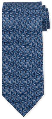 Salvatore Ferragamo Fast Turtle-Print Silk Tie