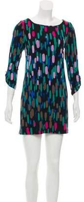 Tibi Long Sleeve Printed Dress