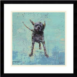 Amanti Art Shake No. 3 Dog Framed Wall Art