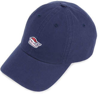 Vineyard Vines Santa Whale Mistletoe Baseball Hat
