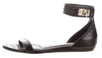 Givenchy Embossed Ankle Strap Sandals