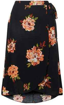 Dorothy Perkins Curve Amber Wrap Tie Midi Skirt