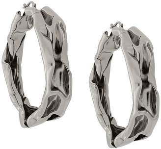 Jil Sander thick hoop earrings