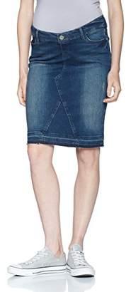 Noppies Women's Jeans Skirt OTB Joy Medium Aged Maternity (Blue Denim C6), 12 (Size: )