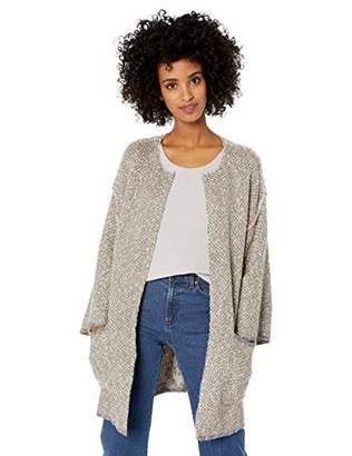 Democracy Women's 3/4 Sleeve Reversible Open Cardigan Sweater