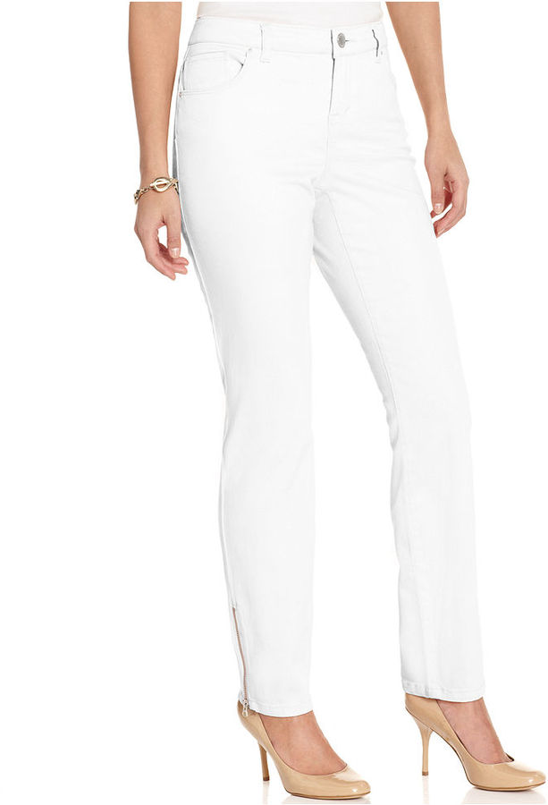 Style&Co. Petite Jeans, Skinny Zippered Colored