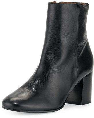 Frye Jodi Leather Block-Heel Bootie, Black $398 thestylecure.com