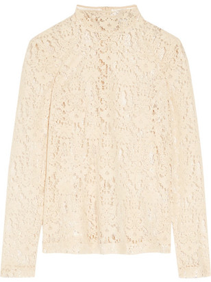 DKNY - Flocked Lace Top - Cream $500 thestylecure.com