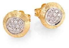 Marco Bicego Women's Delicati Diamond, 18K Yellow & White Gold Stud Earrings