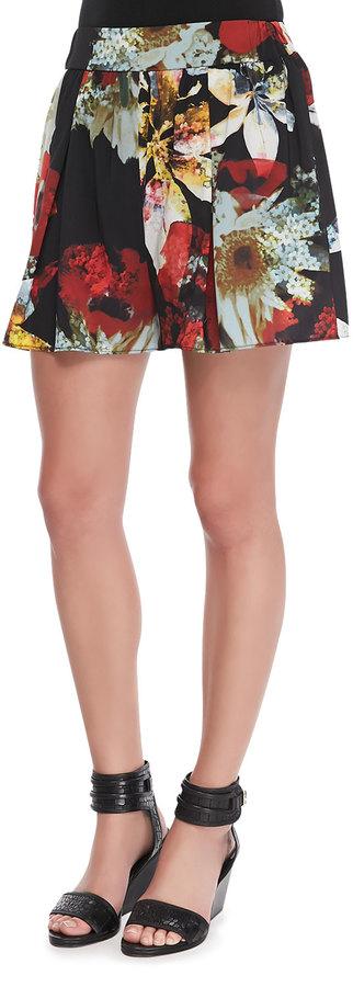 Alice + Olivia Floral-Print Jersey Shorts