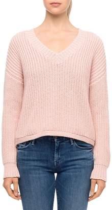 Line Knit V-Neck Sweater