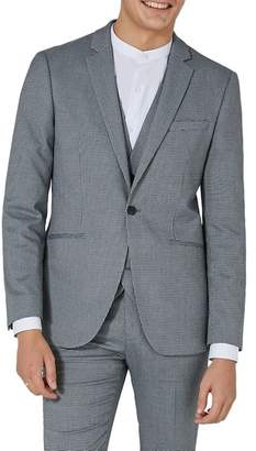 Topman Skinny Fit Houndstooth Suit Jacket