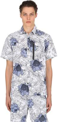 Nike Floral Cotton Short Sleeve Top