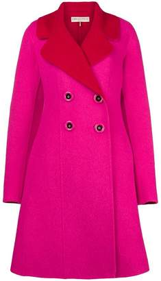 Emilio Pucci contrast double-breasted coat