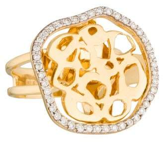 Reiss I. 14K Diamond Freeform Ring