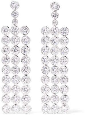 Kenneth Jay Lane Rhodium-plated Crystal Earrings - Silver