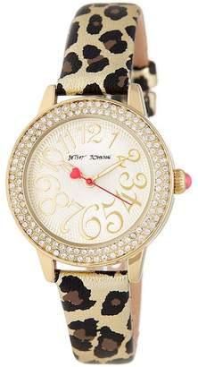 Betsey Johnson Women's Cheetah Watch, 32mm