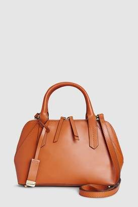 Next Womens Tan Leather Small Kettle Bag