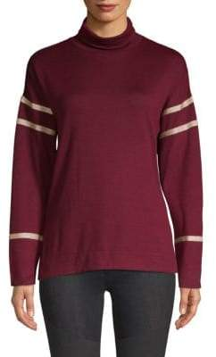 Laundry by Shelli Segal Metallic-Trimmed Turtleneck Sweater