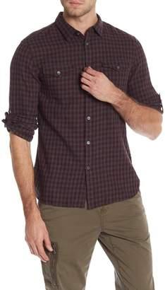 John Varvatos Check Print Regular Fit Shirt